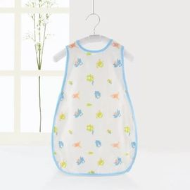 Natural Soft Cotton Muslin Sleeping Bag Untuk Balita Ukuran 75 * 64 * 32cm